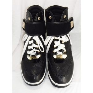 Bebe Sport Hi-top Black Fashion Sneakers